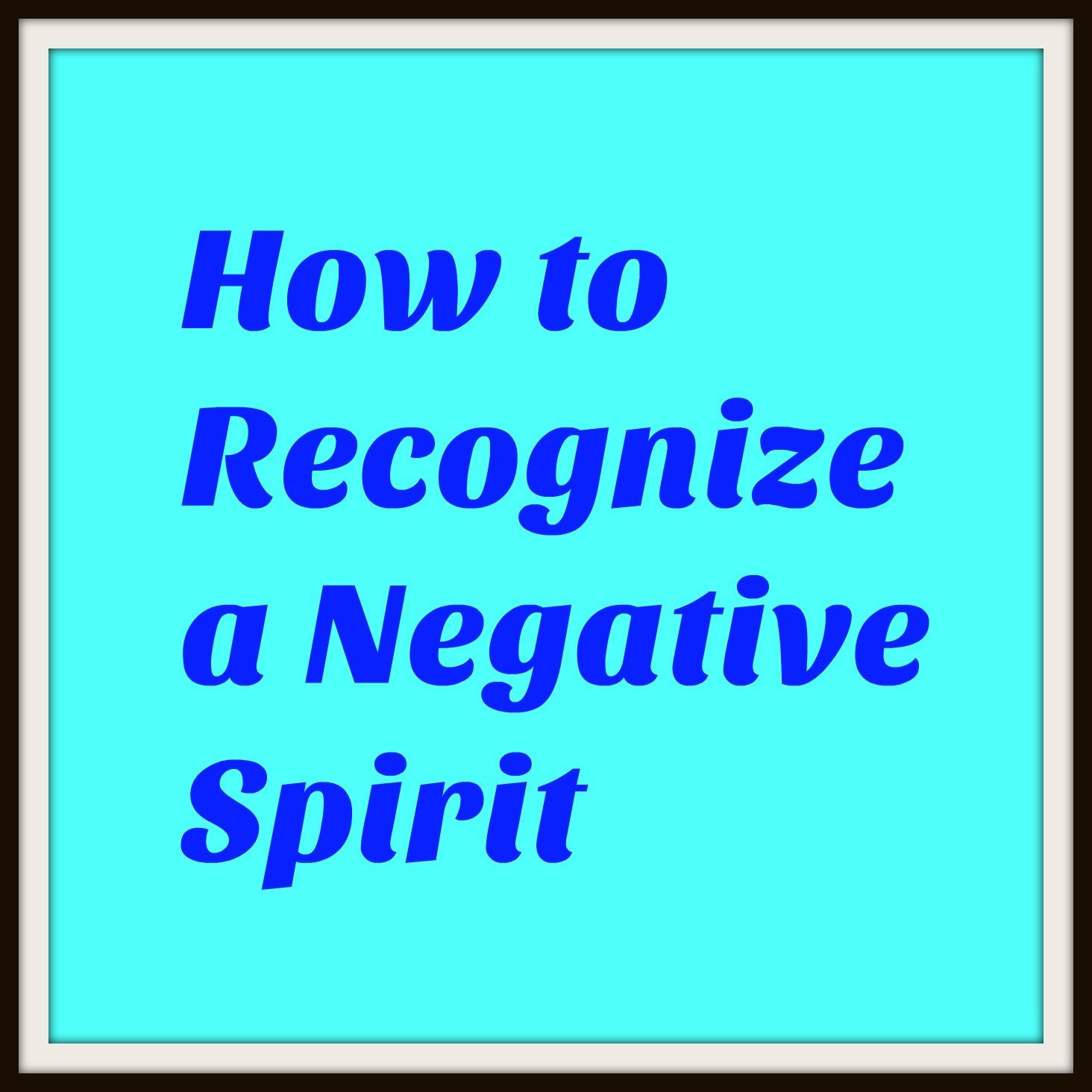 negative spirit