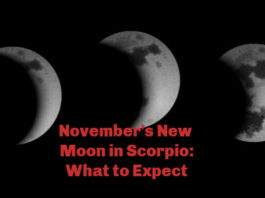 November new moon in Scorpio